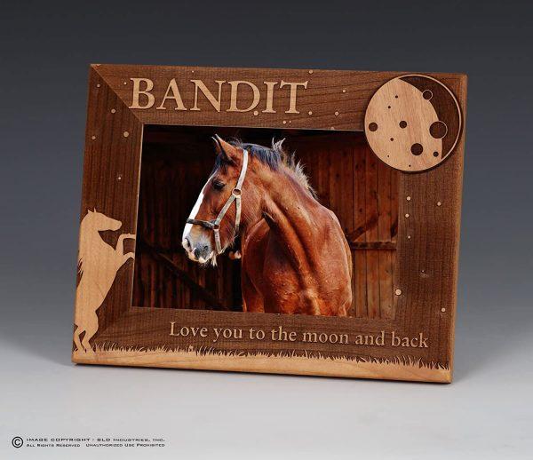 SLD Awards Custom Laser Engraved Horse Frame