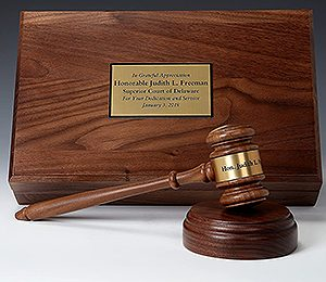 Professional Wood and Crystal Gavel Gift Sets