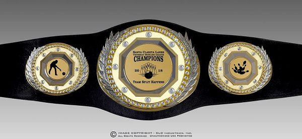 SLD Awards Fully Customizable Presidential Championship Belt with Presentation Gift Box