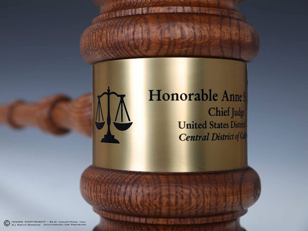 Giant 3Ft. Long Solid Oak Gavel with Engraved Gavel Band